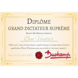 Diplôme de Dictateur